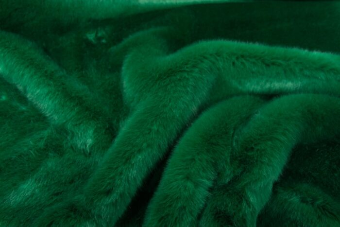 Faux fur by the metre Green Imitation Mink/Rabbit Faux Fur Fabric By The Metre – 6003 Grass Green