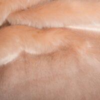 Faux fur by the metre Salmon Rose Imitation Mink/Rabbit Faux Fur Fabric By The Metre – 6003 Salmon