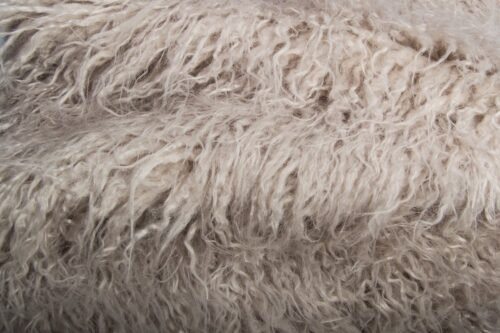 Faux fur by the metre Platinum Grey Mongolian Fake Fur Fabric – 1591 Platinum