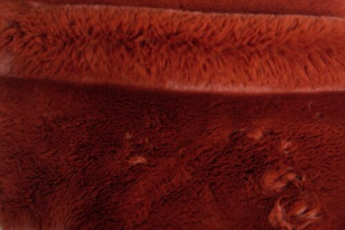 Faux fur by the metre Super soft Terracotta Red rabbit style faux fur fabric – 3105 Terracotta