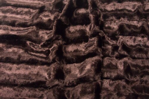 Faux fur by the metre Purple textured faux fur fabric by the metre, mink imitation – 802 Aubergine
