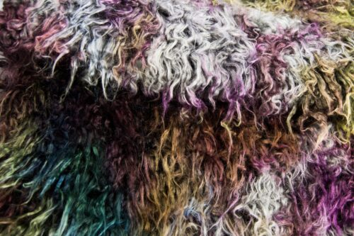 Faux fur by the metre Multicolor Mongolian Fake Fur Fabric – 9002 Multicolor Waterprint