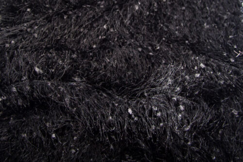 Faux fur by the metre Super Soft Faux Fur Fabric By The Metre, Feathers effect, black – 9005 Black