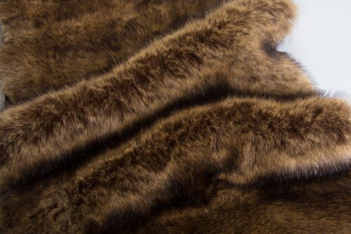 Faux fur by the metre Brown Fox Faux Fur Fabric By The Metre – 6012 Red Fox