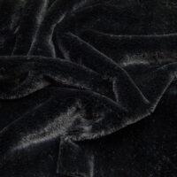 Budget faux fur Low price short pile black faux fur fabric – W2/60 Black