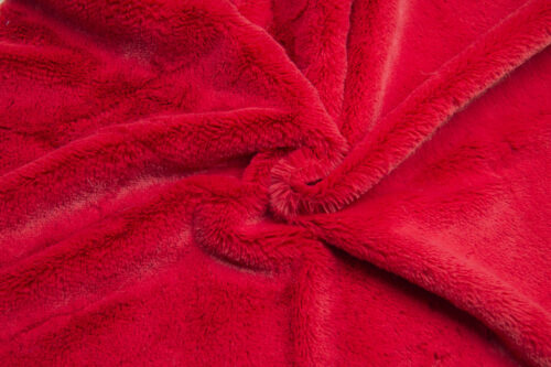 Budget faux fur Low price short pile red faux fur fabric – W2/60 R.Red