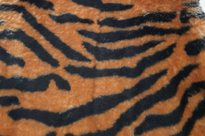 Faux fur by the metre Super soft Brown Tiger rabbit style faux fur fabric – 3105 Tiger Brown