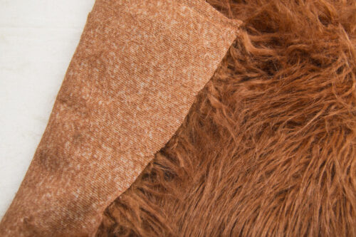 Faux fur by the metre Leather Brown Mongolian Fake Fur Fabric – 4046 Brown