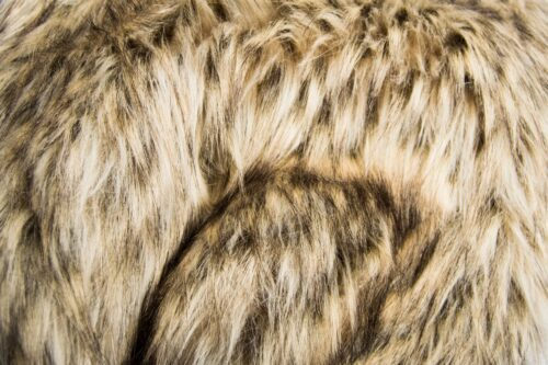 Faux fur by the metre Beige Racoon Faux fur fabric by the metre – 1600 Tundra Racoon