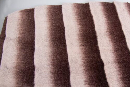 Faux fur by the metre Super soft horizontal chinchilla faux fur fabric, brown – 3124 Brown/Silver