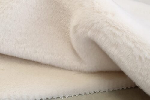 Faux fur by the metre Ivory faux fur fabric by the metre, rabbit imitation – 7531 Ivory