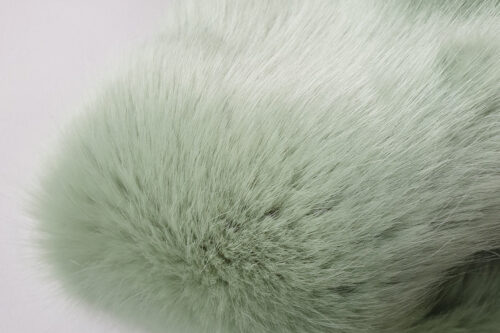 Faux fur by the metre Super soft green faux fur fabric by the metre – 7554 Lichen