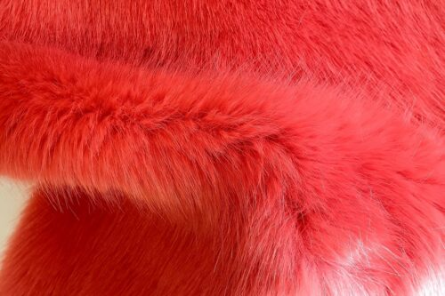Faux fur by the metre Super soft red faux fur fabric by the metre – 7554 Warm Red