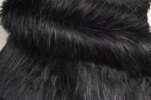 Faux fur by the metre Black Fox Faux Fur Fabric By The Metre – 1653 Norge Black