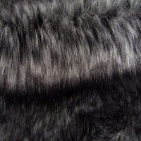 Faux fur by the metre Silver Fow Faux Fur Fabric By The Metre – 6010 Black/Silver