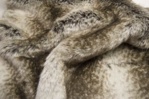 Faux fur by the metre Brown Chinchilla Faux Fur Fabric By The Metre – 6002 Brown