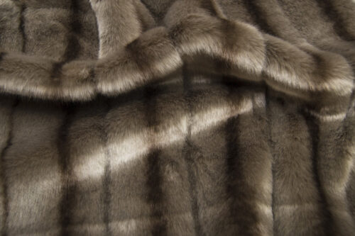 Faux fur by the metre Praline Grey Textured Mink Faux Fur Fabric By The Metre – 6004 Praline
