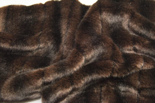 Faux fur by the metre Red Brown Textured Mink Faux Fur Fabric By The Metre – 6004 Red Brown