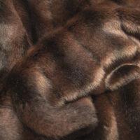 Faux fur by the metre Dark Brown Textured Mink Faux Fur Fabric By The Metre – 6004 Dk. Brown