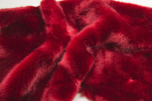 Faux fur by the metre Red Mink Faux Fur Fabric By The Metre – 6005 Red