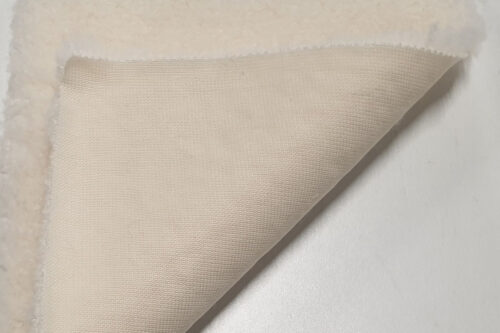 Faux fur by the metre Cream teddy faux fur fabric by the metre – 2R374 Cream