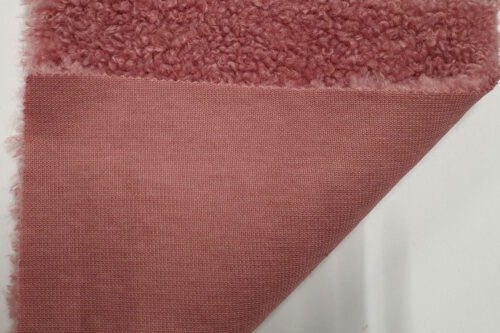 Faux fur by the metre Rose teddy faux fur fabric by the metre – 2R374 Rose
